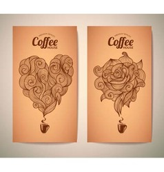 Set of coffee concept design vector image