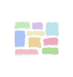 Set of paper different color fragments scraps vector