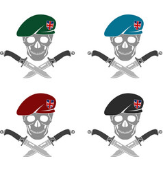 set of sign of special forces of great britain vector image