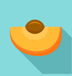 tasty apricot icon flat style vector image