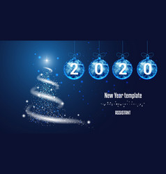template for new year or christmas project snow vector image