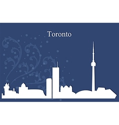 Toronto city skyline on blue background vector image