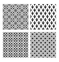 Tribal seamless black pattern set vector