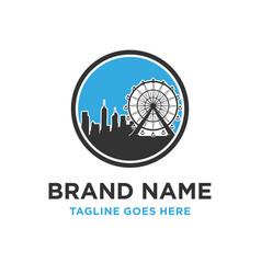 urban building logo vector image