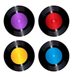 Vinyl records set vector image