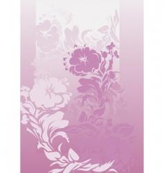 violets background vector image