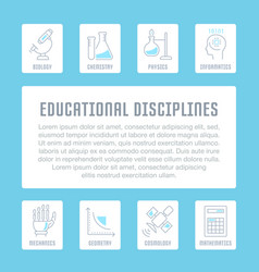 Website banner and landing page educational vector