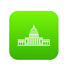white house icon digital green vector image