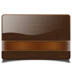 wooden card vector image