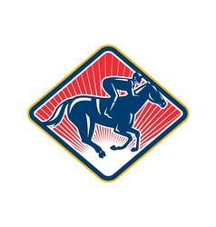 Jockey Horse Racing Side Retro vector image vector image