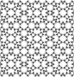 Monochrome seamless ethnic pattern vector image vector image