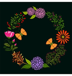 Springtime Colorful Flower and Butterfly vector image vector image