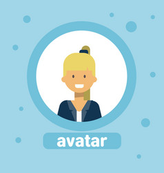 young woman avatar businesswoman profile icon user vector image vector image