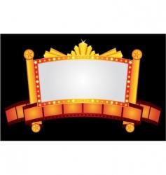 gold cinema neon vector image