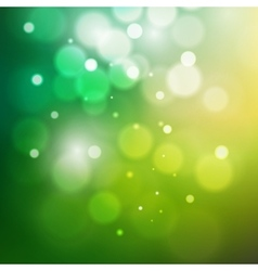 Green bokeh abstract light background vector