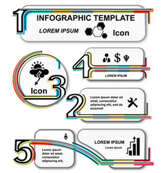 infographic template set elements vector image vector image