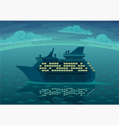 night cruise vector image vector image