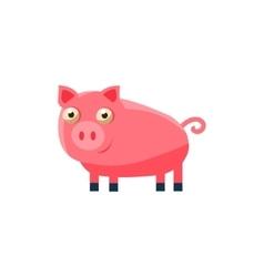 Pig Simplified Cute vector image vector image