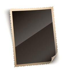 Vintage Photo Paper Frame with Curled Corner vector image