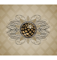 Background with abstraction vector image