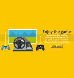 enjoy the game banner horizontal concept vector image vector image