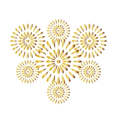 Fireworks gold isolated on white background vector