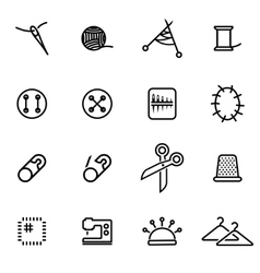 thin line icons - sewing vector image vector image