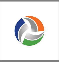 circle round shape colored logo vector image