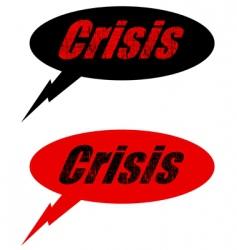 crisis balloon vector image vector image
