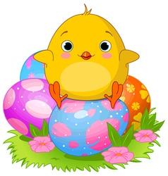 Easter chicken vector