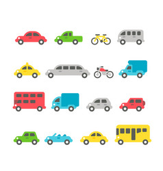 flat design car set vector image vector image
