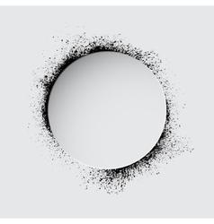 Grunge white circle vector image