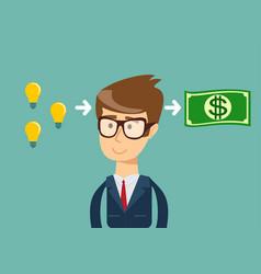 man make money from idea vector image
