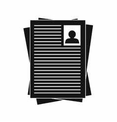 Resumes icon in simple style vector image vector image
