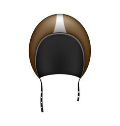 retro motorcycle helmet in dark brown design vector image vector image