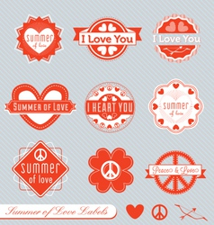 Summer of Love Labels vector image vector image