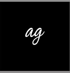 A g letter logo initial designa g logo design vector