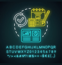 Accountancy neon light concept icon budgeting vector
