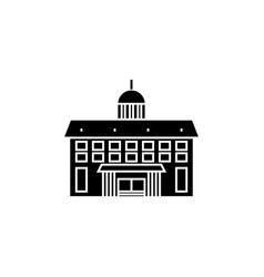 administrative building black icon concept vector image