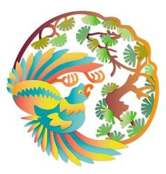 Asian parrot vector