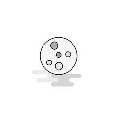 Bacteria plate web icon flat line filled gray icon vector