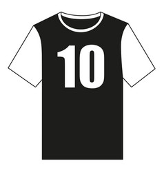 black and white soccer uniform t-shirt vector image