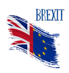 Brexit waving flags concept vector