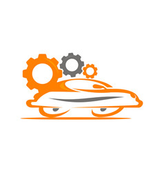 car and gear vector image