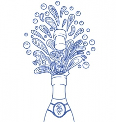 champagne splashes vector image