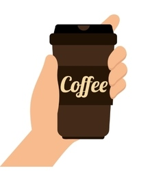 Coffee cup disponsable takeaway vector