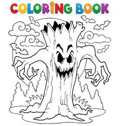 Coloring book halloween character 7 vector