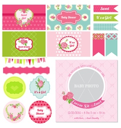 Design Elements - Baby Shower Flower Theme vector