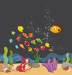 Enjoyed under the sea vector