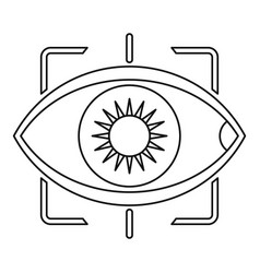 Eye with integrated camera lens icon outline style vector